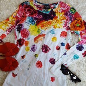 Prabal Gurung floral long sleeve top size XS